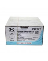 Fils de suture Soie 22 mm - 3/0 – 75 cm – FW577