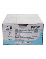 Fils de suture Soie 16mm - 4/0 - 75cm - FW501