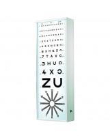 Verlichte optometrie schaal EOIN