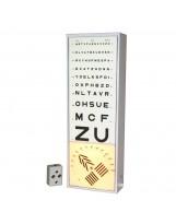Verlichte optometrie schaal ETCT