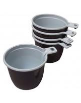 Tasses à café jetables, bicolore