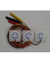 Électrode de surveillance  précâblée radiotransparente pour néonatologi
