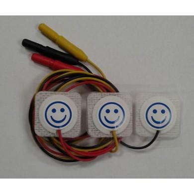Électrode pré-câblées destinées aux nouveau-nés et enfants 22x22mm