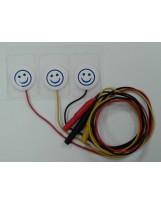 Électrode pré-câblées destinées aux nouveau-nés et enfants 22x22mm, support microporeux