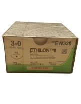 Fils de suture Ethilon Ethicon 26 mm - 75 cm - 3/0 – EW320