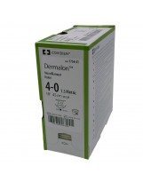 Hechtdraad Dermalon 19 mm – 45 cm – 4/0