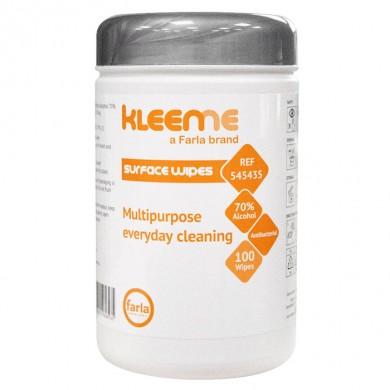 Lingettes alcoolisées antibactériennes douces de KleenMe